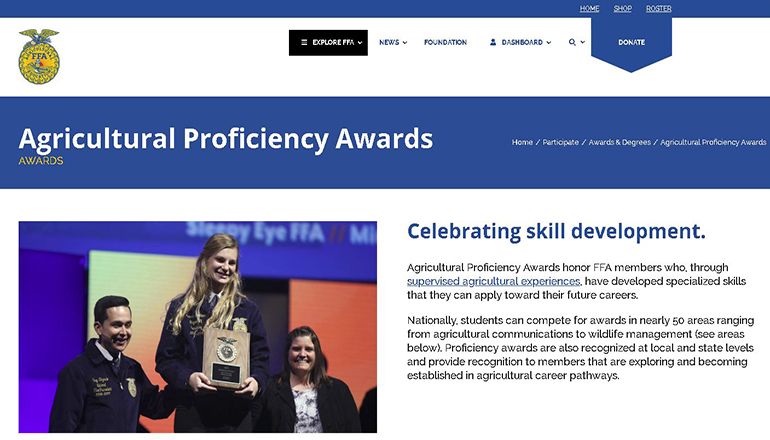 Agricultural Proficiency Awards Website
