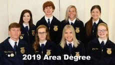 Chillicothe Area II FFA Degree Recipiets 2019
