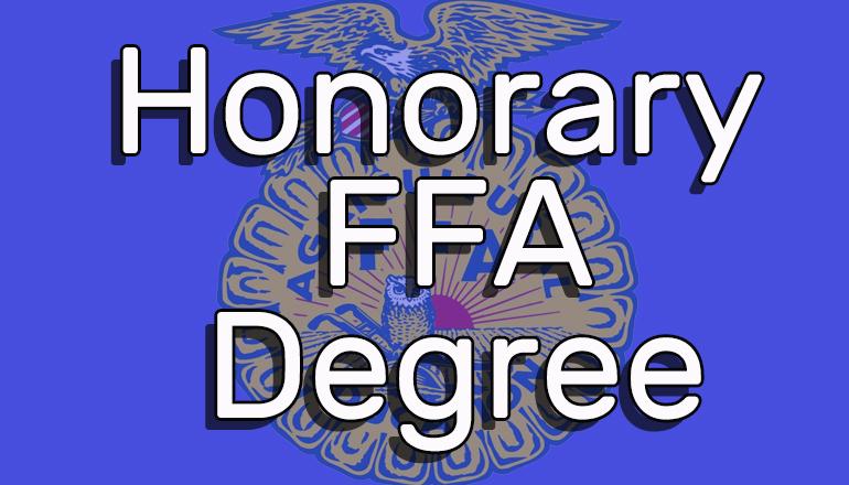Honorary FFA Degree