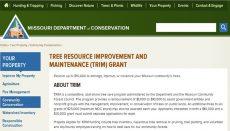 Missouri Department of Conservation Trim Grant website