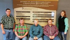(l-r) Andrew George, Jacob Butler, Stetson Klise, Cole Wolf and Katie Blanchard.