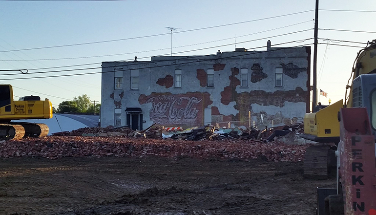 Demo Work Downtown Trenton