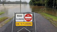 Road Closed Due to Flooding Sign