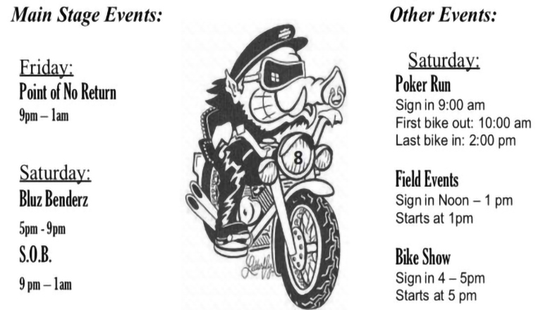 Freedom of Road Riders events 2019