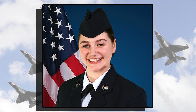 Airman Janae Riddle graduates Air Force basic training in Texas