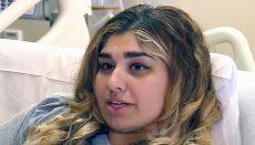 Jasmine Diab in hospital bed