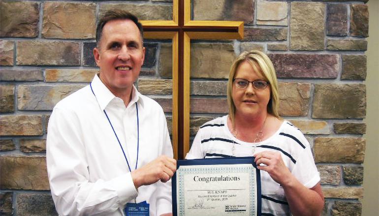 Sue Knapp WMH Employee of the Quarter