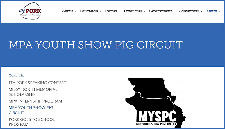MPA Youth Pig Show Circuit Website