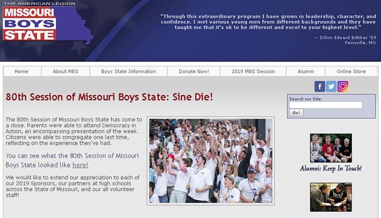 Missouri Boys State website