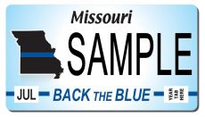 Back the Blue Missouri License Plate