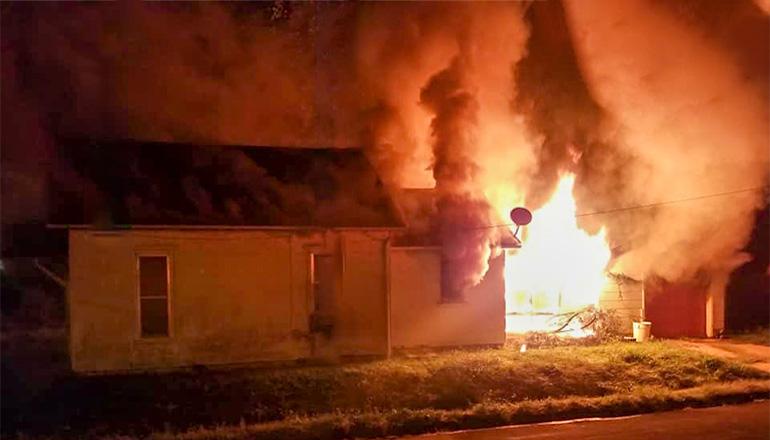 Monday morning fire 9-23-19 Main Street Trenton