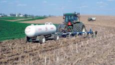 Tractor Applying Fertilizer