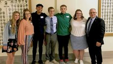 student senate with rep black 2019