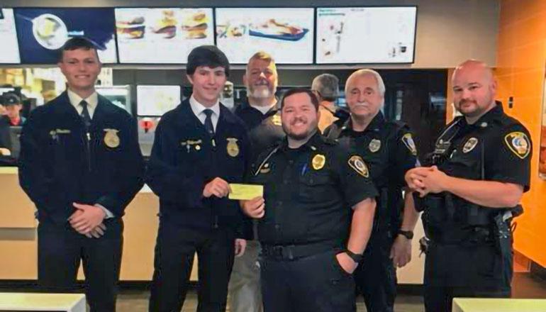 Chillicothe FFA Donates to Chillicothe Police