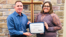 Kaycee West WMH Employee of the Quarter 2019