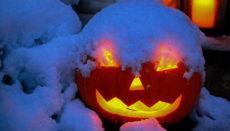 Snowy Halloween Pumpkin