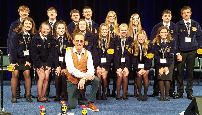 Chillicothe Students part of FFA Courtesy Corps