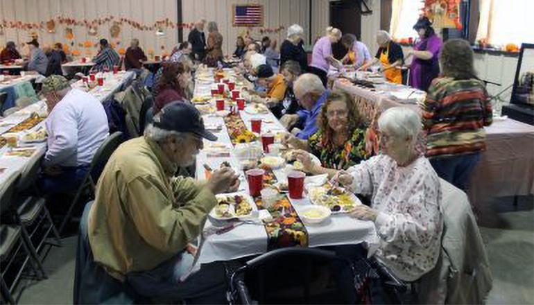 Coon Creek Baptist Church Thanksgiving Meal