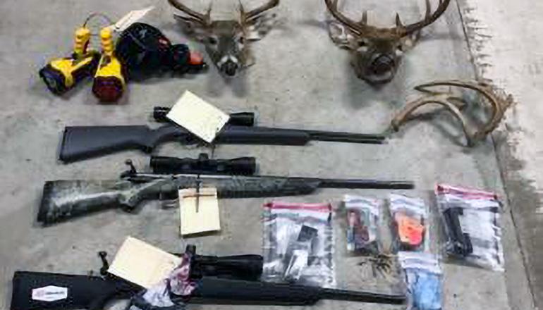 Harold Piatt poaching items