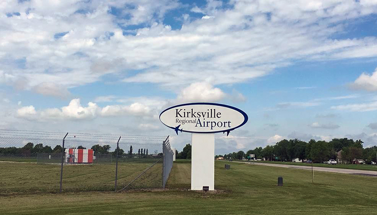 Kirksville Regional Airport sign