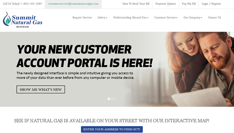 Summit Natural Gas Website
