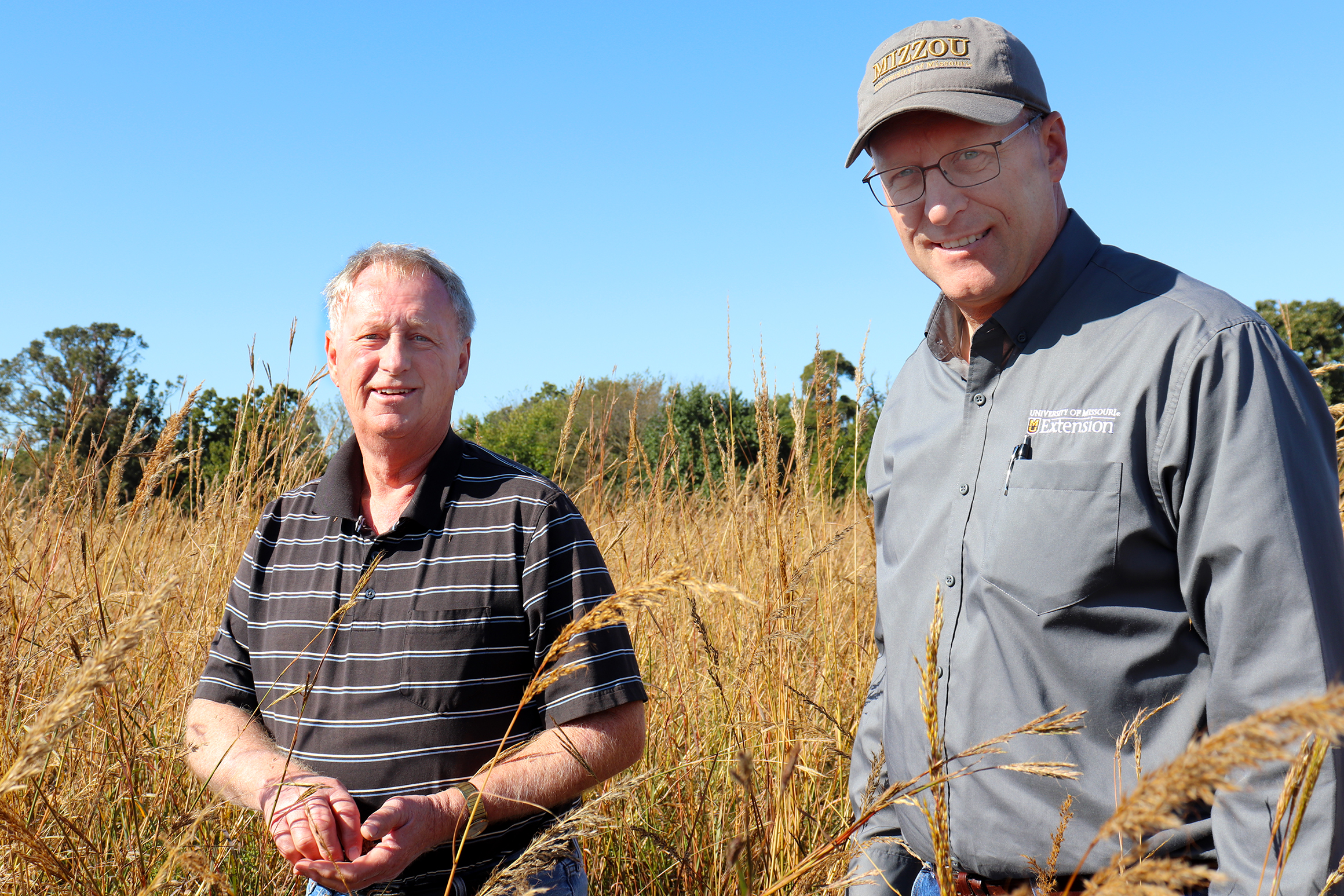 Gene Cowherd is one of three Barry County producers working with MU Extension agronomist Tim Schnakenberg to establish warm-season grasses through the NRCS + MU Grasslands Project.