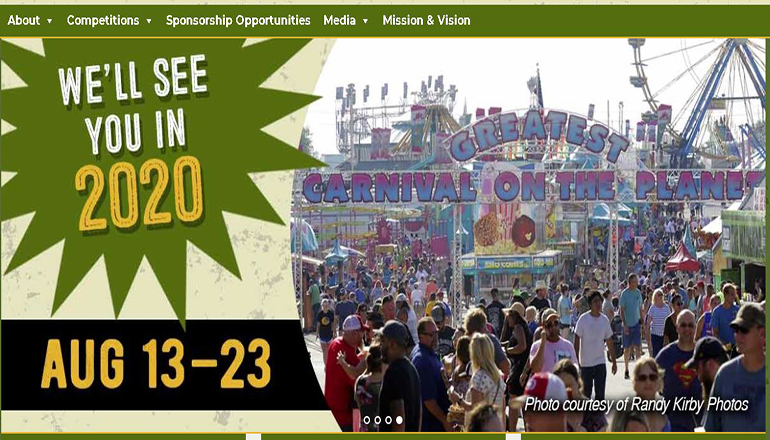 Missouri State Fair Website 2020
