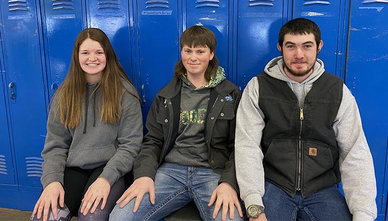 Mackenzie McAtee, Kidridge Griffin and Matthew Slater