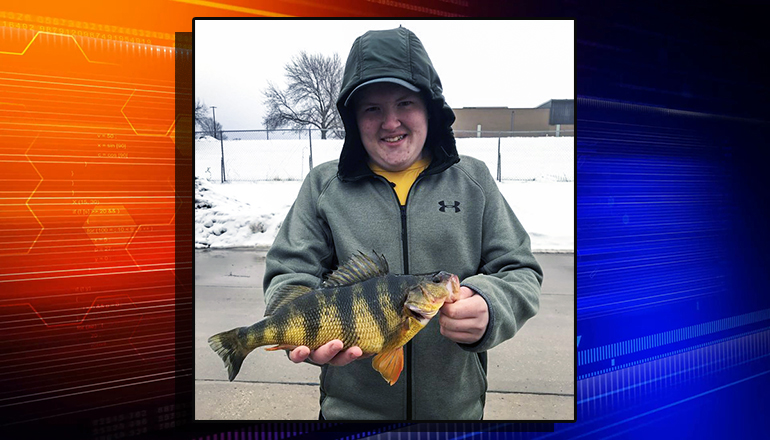 Tyler Halley Catches state record yellow perch