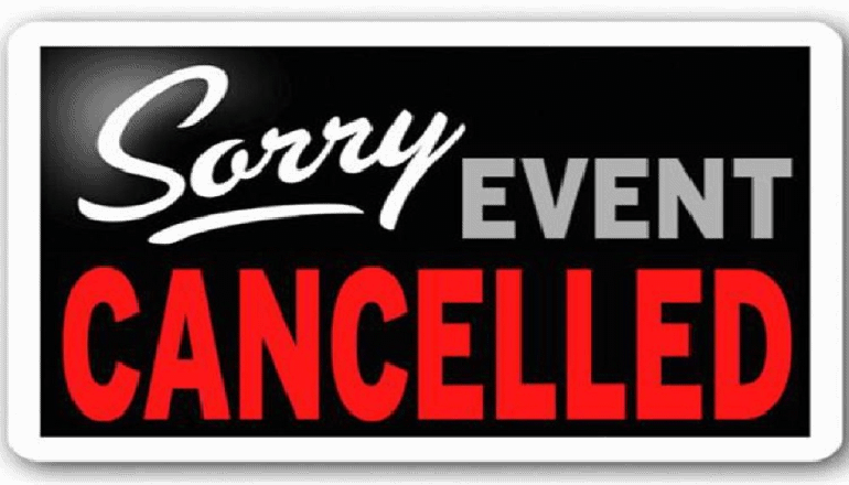 Sorry, Event Canceled