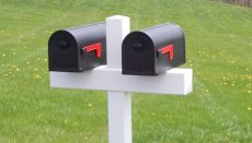 Mailboxes on a post