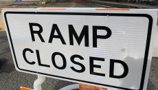 Road Work Ramp Closed Sign