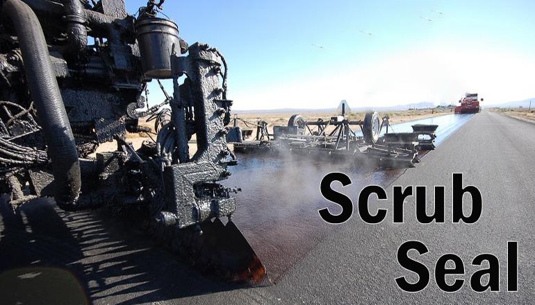 Scrub Seal Road Work