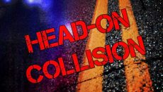 Head-On Collision or crash