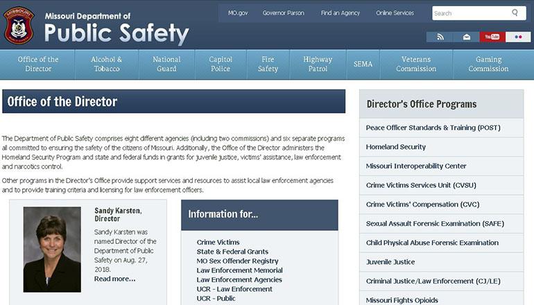 Missouri Department of Public Safety Website