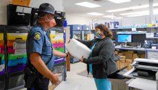Missouri Highway Patrol Trooper delivers remdesivir
