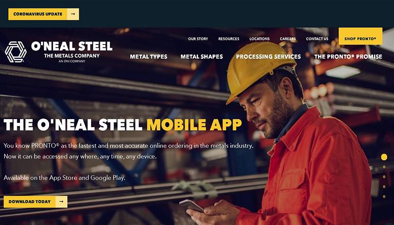 O'Neal Steel Website