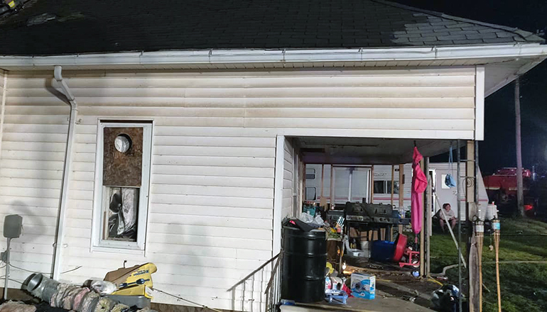 Fire at 612 Pine in Spickard on June 3, 2020