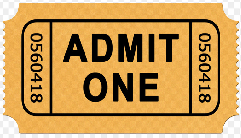 Admit One Ticket (Use for puppet show articles)