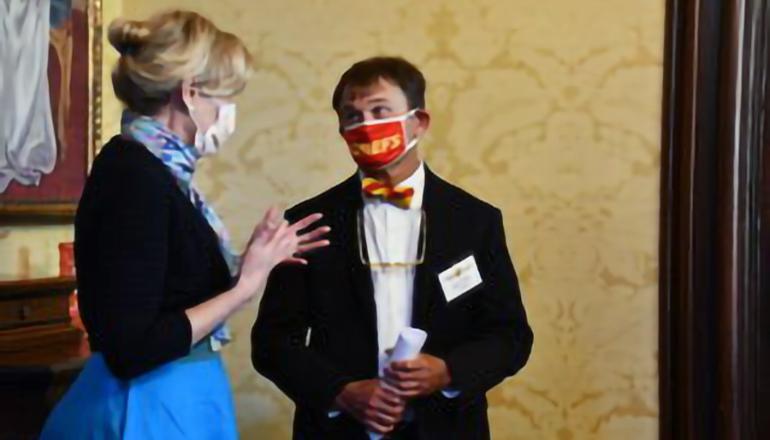 Dr Deborah Birx with DHSS Director Dr Randall Williams