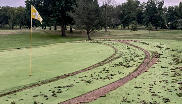 Damaged golf course in Chillicothe