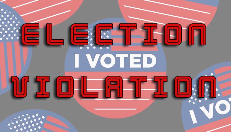 Election Violation News Graphic