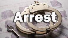 Handcuffs and Key with Arrest graphic