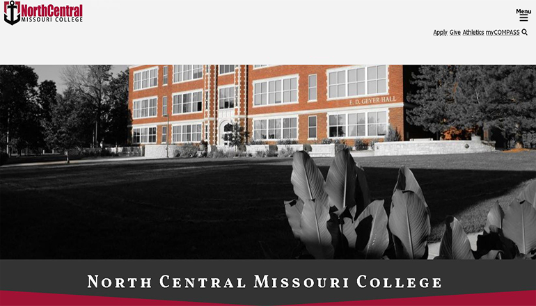 North Central Missouri College Website V2 (NCMC)