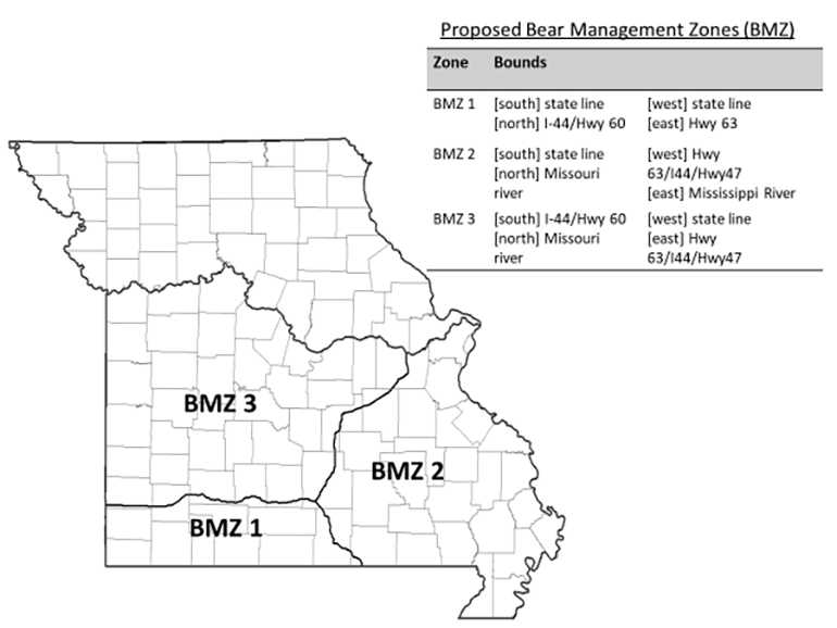 Proposed Bear Management Zone