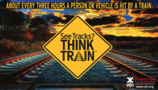 Rail Safety Week (See Tracks Think Train) graphic