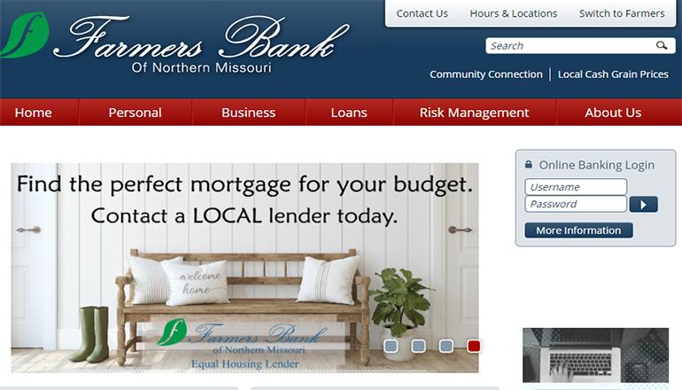 Farmers Bank of Northern Missouri Website