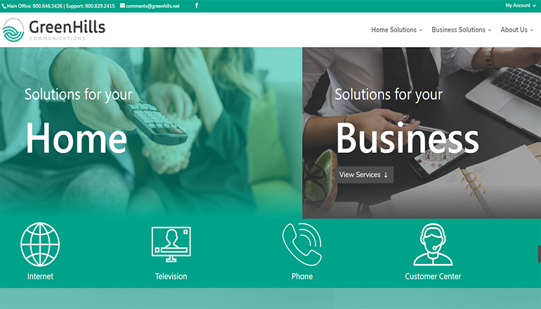 Green Hills Telephone Company and Communications website