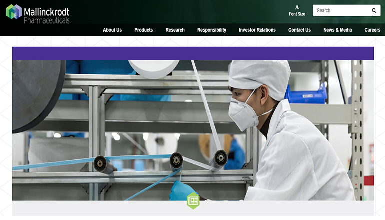 Mallinckrodt Pharaceuticals Website