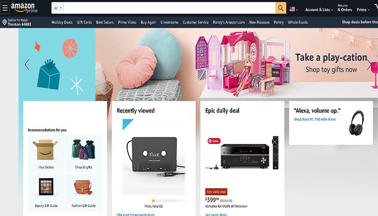 Amazon website